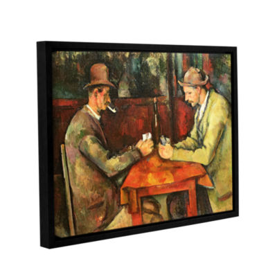 Brushstone The Card Players Gallery Wrapped Floater-Framed Canvas Wall Art