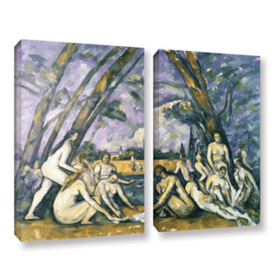 Brushstone The Large BaThers 2-pc. Gallery WrappedCanvas Wall Art