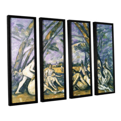 Brushstone The Large BaThers 4-pc. Floater FramedCanvas Wall Art