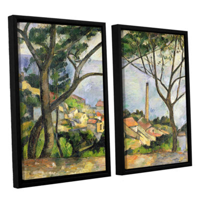 Brushstone The Sea at I'Estaque 2-pc. Floater Framed Canvas Wall Art