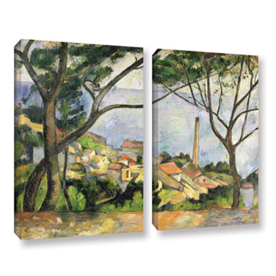 Brushstone The Sea at I'Estaque 2-pc. Gallery Wrapped Canvas Wall Art