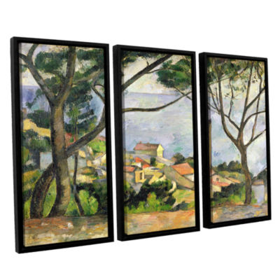 Brushstone The Sea at I'Estaque 3-pc. Floater Framed Canvas Wall Art