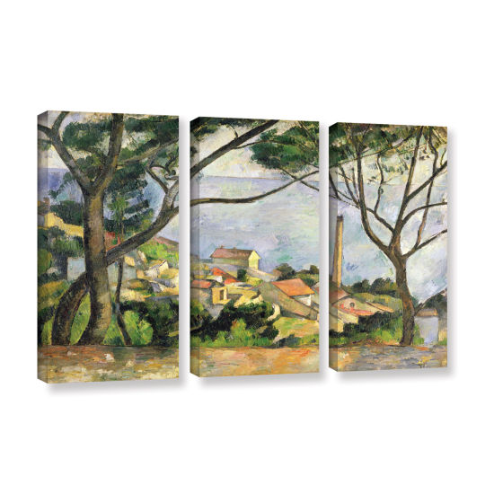 Brushstone The Sea at I'Estaque 3-pc. Gallery Wrapped Canvas Wall Art