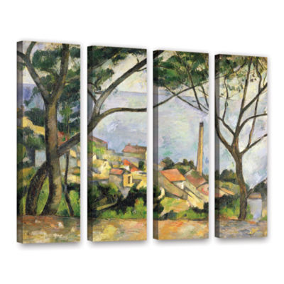 Brushstone The Sea at I'Estaque 4-pc. Gallery Wrapped Canvas Wall Art