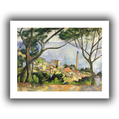 Brushstone The Sea at I'Estaque Canvas Wall Art