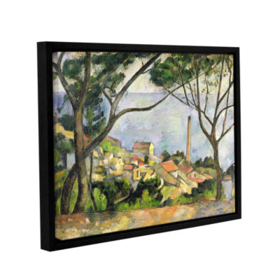 Brushstone The Sea at I'Estaque Gallery Wrapped Floater-Framed Canvas Wall Art