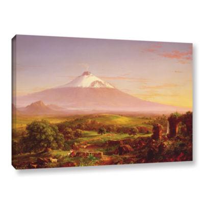 Brushstone Mounta Etna  1842 Gallery Wrapped Canvas Wall Art