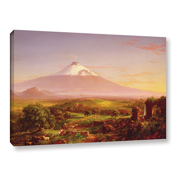 Brushstone Mounta Etna  1842 Gallery Wrapped Canvas Wall Art