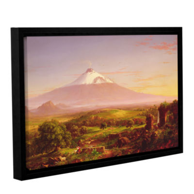 Brushstone Mounta Etna  1842 Gallery Wrapped Floater-Framed Canvas Wall Art