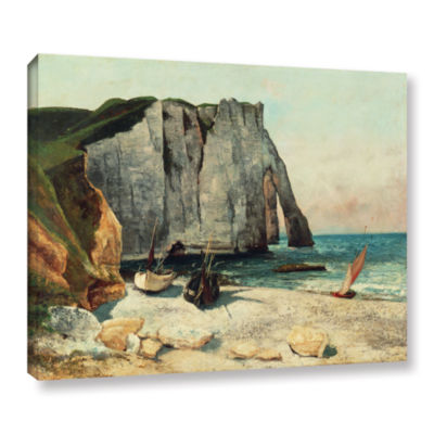 Brushstone The Cliffs Of Etretat  The Port Of Avale  1869 Gallery Wrapped Canvas Wall Art