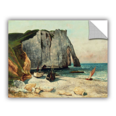 Brushstone The Cliffs Of Etretat  The Port Of Avale  1869 Removable Wall Decal