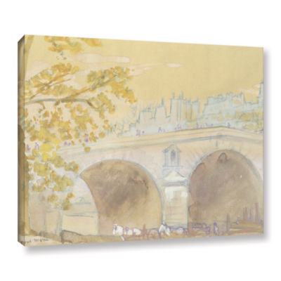 Brushstone Pont Marie From Quai Des Celestins  1926 Gallery Wrapped Canvas Wall Art