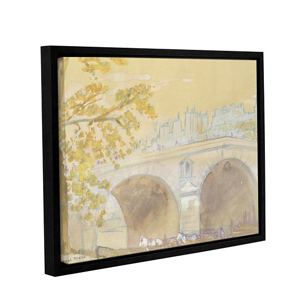 Brushstone Pont Marie From Quai Des Celestins  1926 Gallery Wrapped Floater-Framed Canvas Wall Art