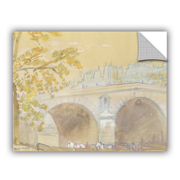 Brushstone Pont Marie From Quai Des Celestins  1926 Removable Wall Decal