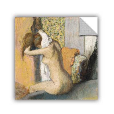 Brushstone After The Bath  Woman Drying Her Neck Removable Wall Decal