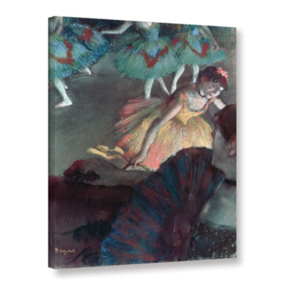 Brushstone Ballerina and Lady with a Fan Gallery Wrapped Canvas Wall Art