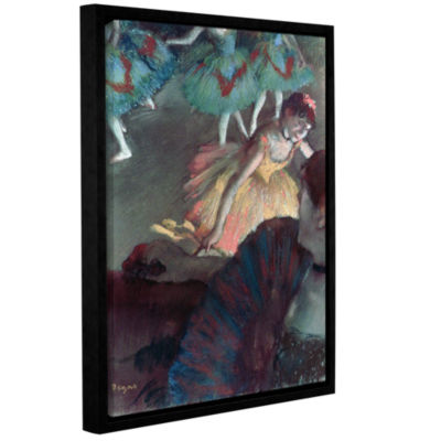 Brushstone Ballerina and Lady with a Fan Gallery Wrapped Floater-Framed Canvas Wall Art
