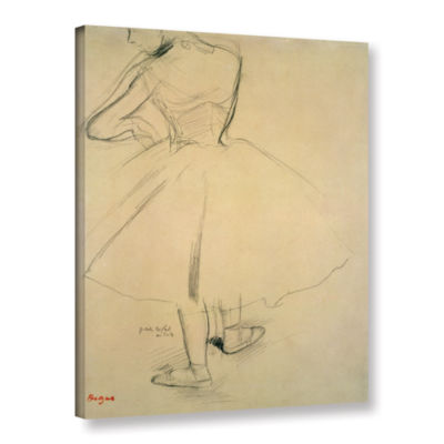 Brushstone Ballet Dancer From Behind Gallery Wrapped Canvas Wall Art