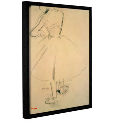 Brushstone Ballet Dancer From Behind Gallery Wrapped Floater-Framed Canvas Wall Art