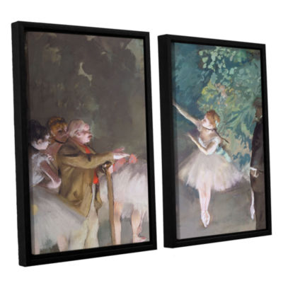 Brushstone Ballet Rehearsal 2-pc. Floater Framed Canvas Wall Art