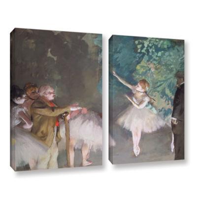 Brushstone Ballet Rehearsal 2-pc. Gallery WrappedCanvas Wall Art