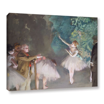 Brushstone Ballet Rehearsal Gallery Wrapped CanvasWall Art