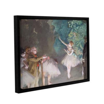 Brushstone Ballet Rehearsal Gallery Wrapped Floater-Framed Canvas Wall Art