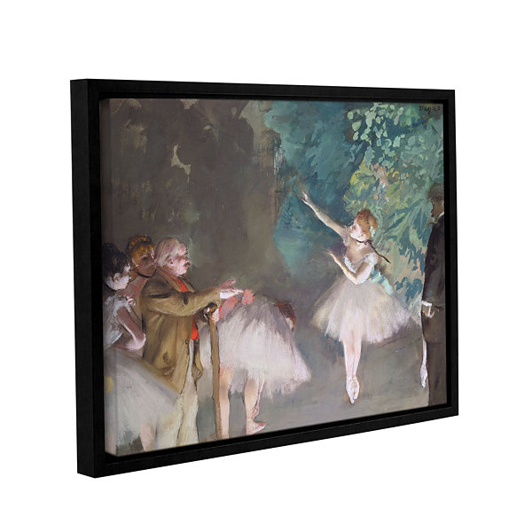 Brushstone Ballet Rehearsal Gallery Wrapped Floater-Framed Canvas Wall Art
