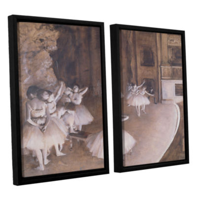 Brushstone Ballet Rehearsal on Stage 2-pc. FloaterFramed Canvas Wall Art
