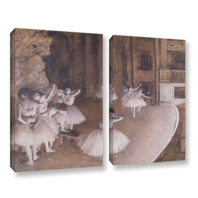 Brushstone Ballet Rehearsal on Stage 2-pc. GalleryWrapped Canvas Wall Art
