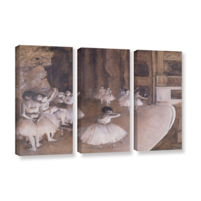 Brushstone Ballet Rehearsal on Stage 3-pc. GalleryWrapped Canvas Wall Art