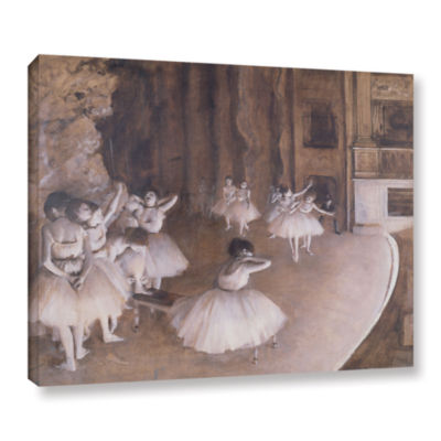 Brushstone Ballet Rehearsal on Stage Gallery Wrapped Canvas Wall Art