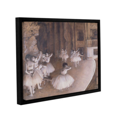 Brushstone Ballet Rehearsal on Stage Gallery Wrapped Floater-Framed Canvas Wall Art