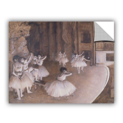 Brushstone Ballet Rehearsal on Stage Removable Wall Decal