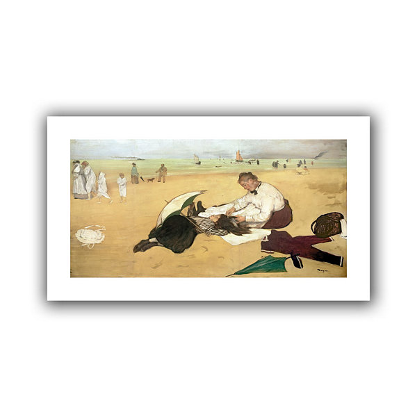 Brushstone Beach Scene Canvas Wall Art