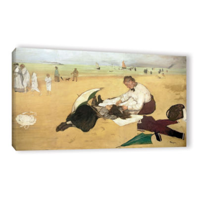 Brushstone Beach Scene Gallery Wrapped Canvas WallArt