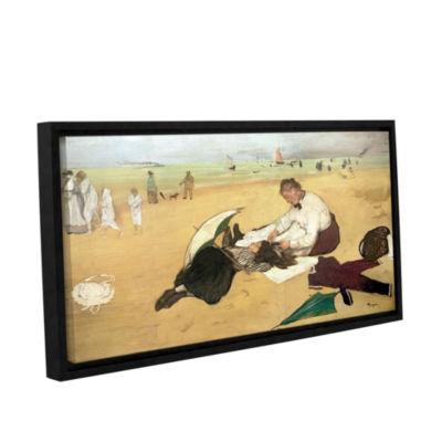 Brushstone Beach Scene Gallery Wrapped Floater-Framed Canvas Wall Art