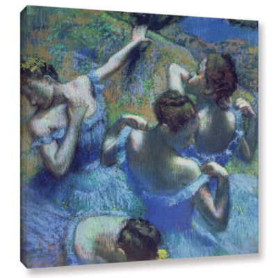 Brushstone Blue Dancers Gallery Wrapped Canvas Wall Art