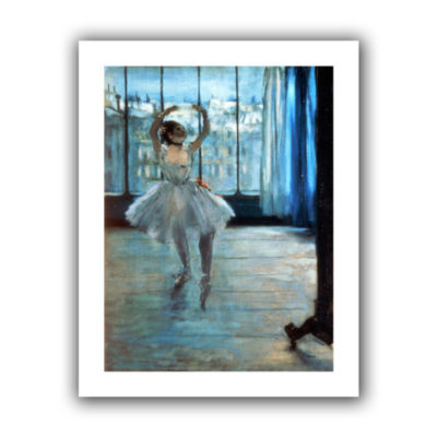 Brushstone Dancer in Front of Window Canvas Wall Art