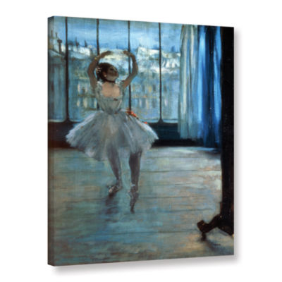 Brushstone Dancer in Front of Window Gallery Wrapped Canvas Wall Art