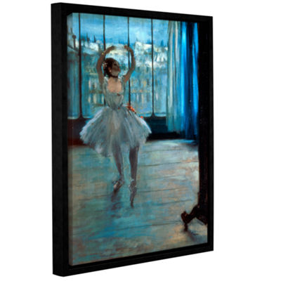 Brushstone Dancer in Front of Window Gallery Wrapped Floater-Framed Canvas Wall Art