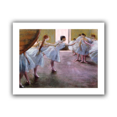 Brushstone Dancers at Rehearsal Canvas Wall Art