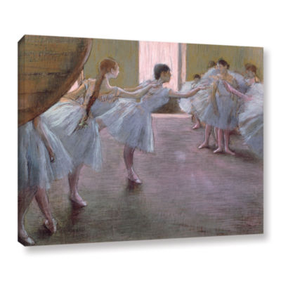 Brushstone Dancers at Rehearsal Gallery Wrapped Canvas Wall Art