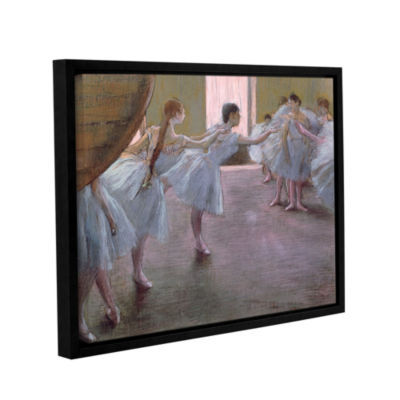Brushstone Dancers at Rehearsal Gallery Wrapped Floater-Framed Canvas Wall Art