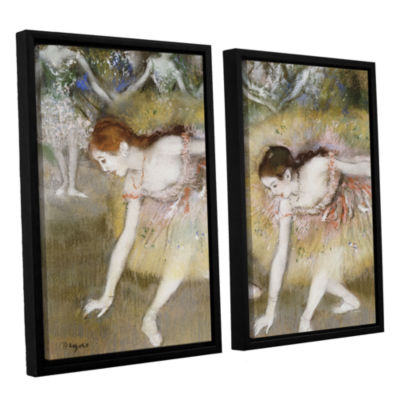 Brushstone Dancers Bending Down 2-pc. Floater Framed Canvas Wall Art