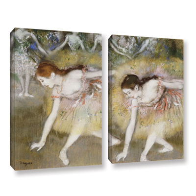 Brushstone Dancers Bending Down 2-pc. Gallery Wrapped Canvas Wall Art