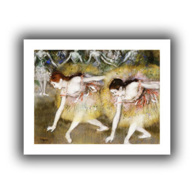 Brushstone Dancers Bending Down Canvas Wall Art