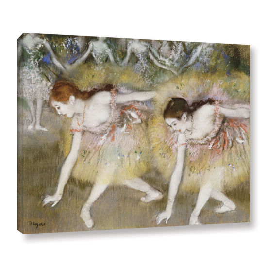 Brushstone Dancers Bending Down Gallery Wrapped Canvas Wall Art