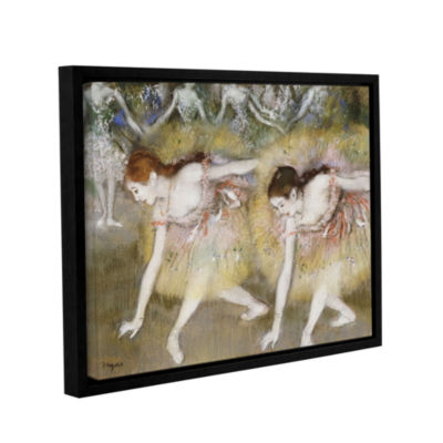 Brushstone Dancers Bending Down Gallery Wrapped Floater-Framed Canvas Wall Art