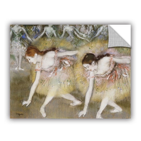 Brushstone Dancers Bending Down Removable Wall Decal